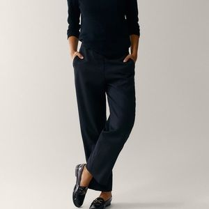Massimo Dutti Crepe Trousers, Flat Front Mid-rise